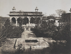 The Hall of Private Audience [Diwan-i-Khas] and the Palace Garden [Machhi Bhavan, Agra]